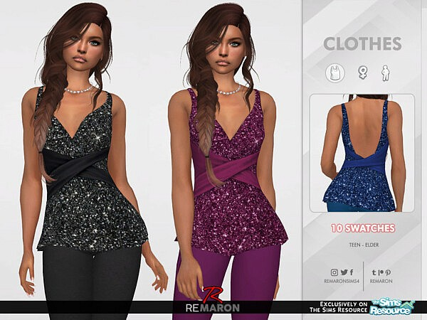 F Party Top 02 sims 4 cc