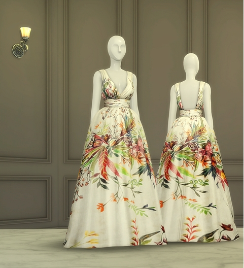 FW 2016 Collection Dress II sims 4 cc
