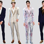 Fancy Men Suit sims 4 cc