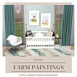 Farm Paintings sims 4 cc