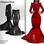 Felix Sequined Dress sims 4 cc