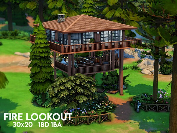 Fire Lookout sims 4 cc