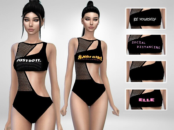 Fishnet Swimsuit by Puresim from TSR