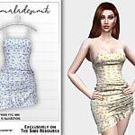 Floral Print Dress sims 4 cc