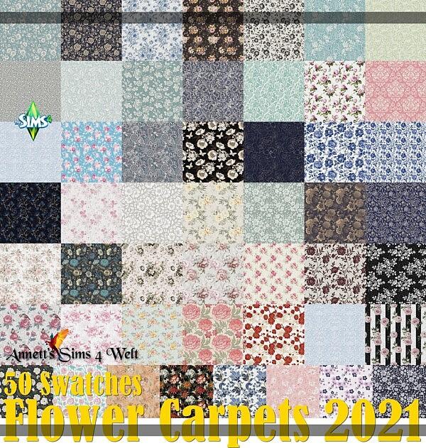 Flower Carpets 2021 from Annett`s Sims 4 Welt