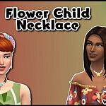 Flower Child Necklace sims 4 cc