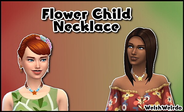 Flower Child Necklace sims 4 cc