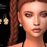 Flower Earrings sims 4 cc