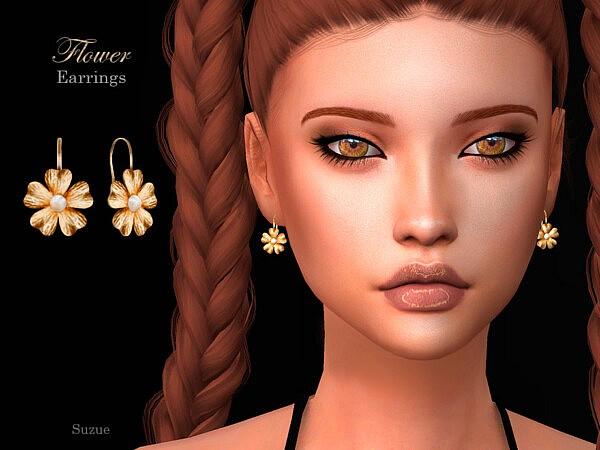 Flower Earrings by Suzue from TSR