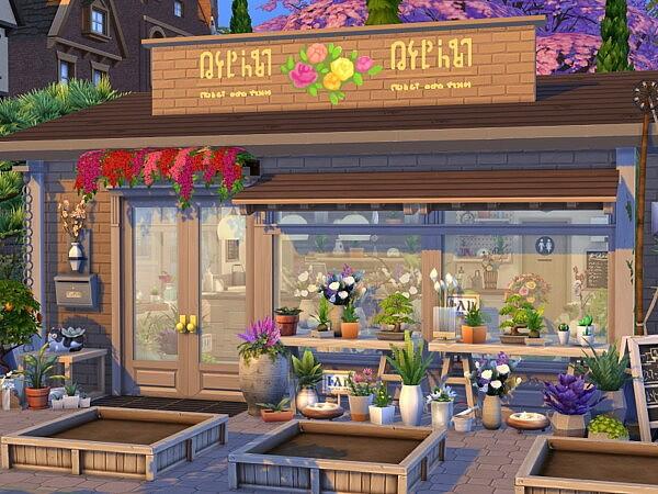 Flower Shop sims 4 cc