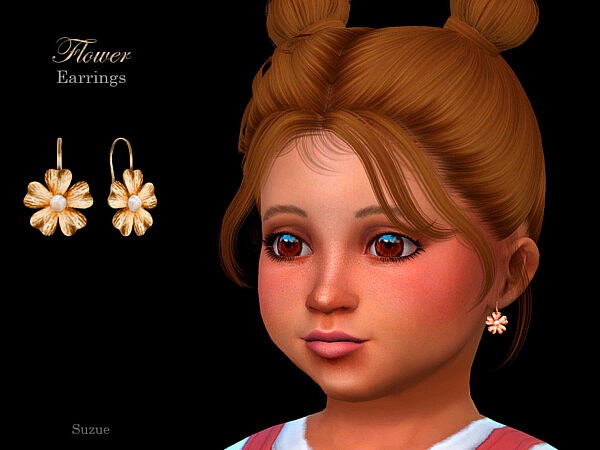 Flower Toddler Earrings sims 4cc
