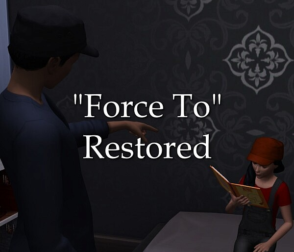 Force to Restored sims 4 cc