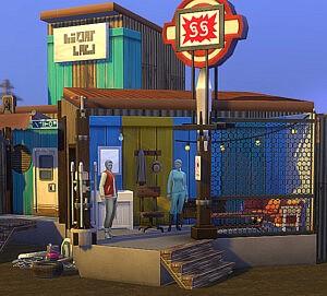 Fully furnished Diamond City Market sims 4 cc