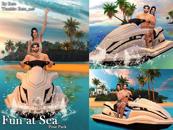 Fun at Sea Pose pack sims 4 cc