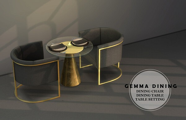 Gemma Dining sims 4 cc