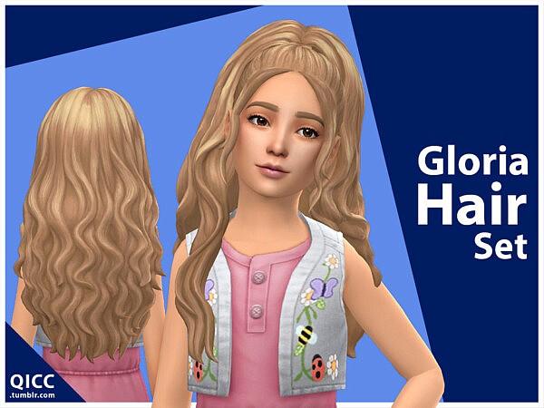 Gloria Hair Set sims 4 cc