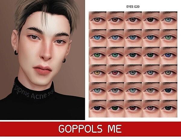 Gold Eyes 20 sims 4 cc