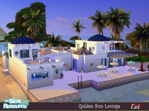Golden sun lounge sims 4 cc