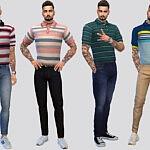 Grant Tucked Polo Shirts sims 4 cc