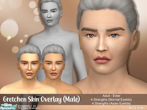 Gretchen Skin Overlay Male sims4 cc