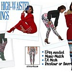 HIGH WAISTED LEGGINGS sims 4 cc
