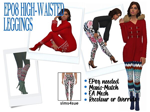 High Waisted Leggings from Sims 4 Sue