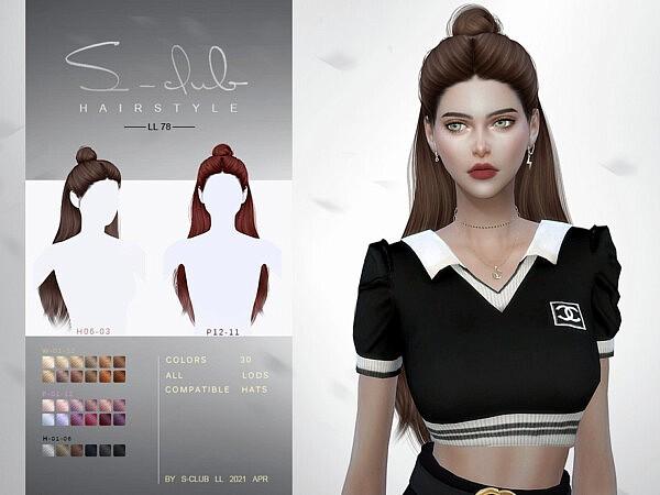 Hair N78 sims 4 cc