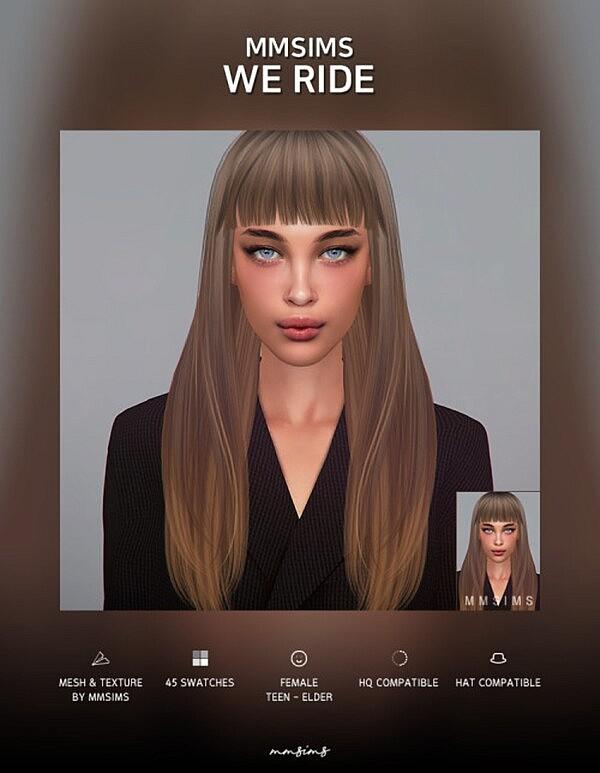 Hair We Ride sims 4 cc
