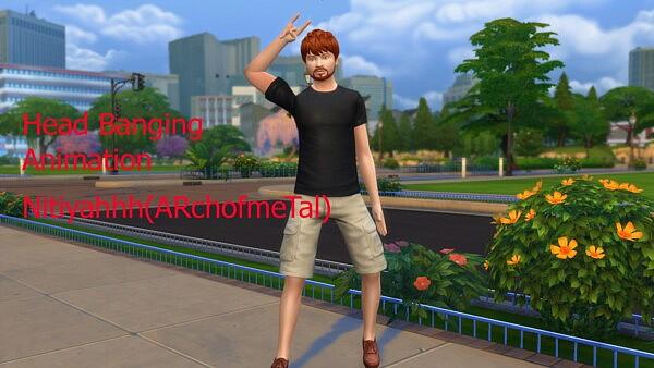 Head Banging Rock Metal Sims 4 Pose