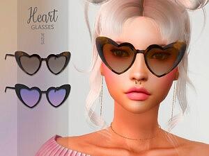 Heart Glasses sims 4 cc