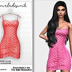 Heart Print MC182 Dress sims 4 cc