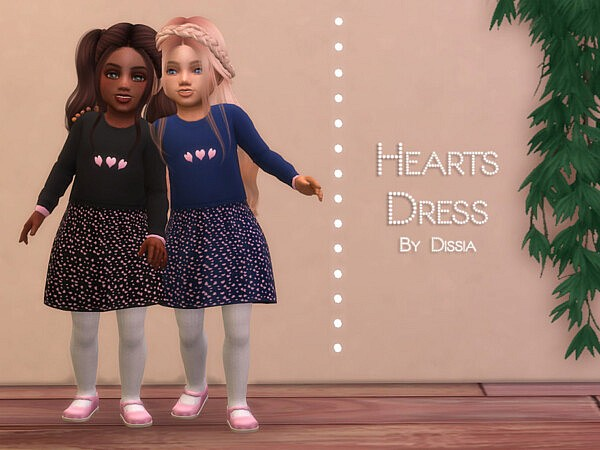 Hearts Dress Toddler sims 4 cc