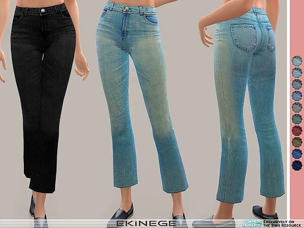 High Waist Crop Bootcut Jeans sims 4 cc