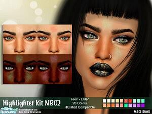 Highlighter Kit NB02 sims 4 cc