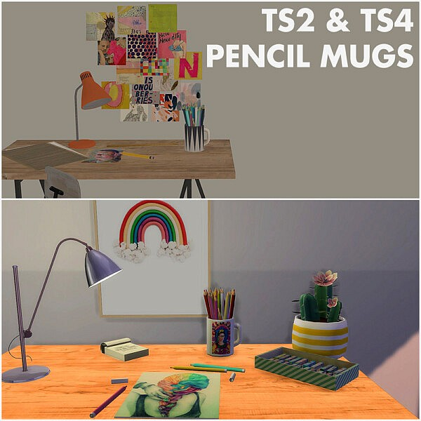 Imadakos pencil mugs sims 4 cc