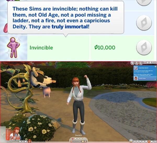 Invincible Trait sims 4 cc