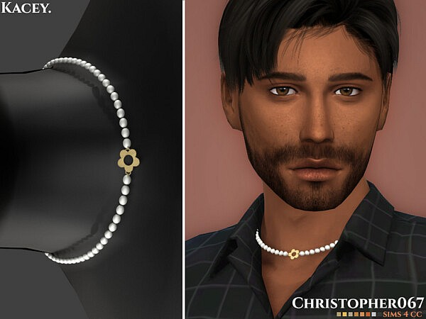 Kacey Necklace Male sims 4 cc