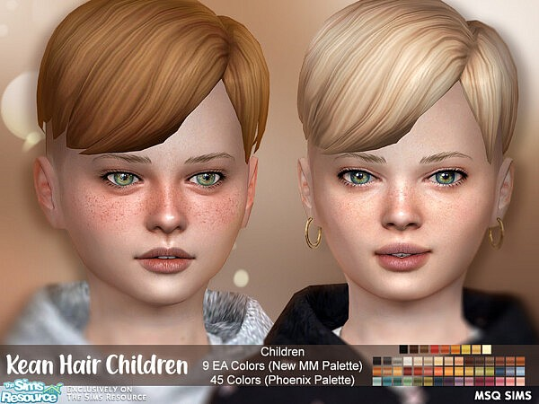 Kean Hair Child sims 4 cc