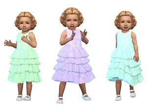 KeyCamz Toddler Dress 0412 sims 4 cc