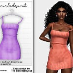Knitted Strappy Bodycon Dress sims 4 cc