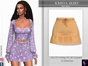 Krista Skirt sims 4 cc