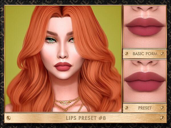 LIPS PRESET 8 sims 4 cc