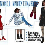 LYDIA BOOTS sims 4 cc