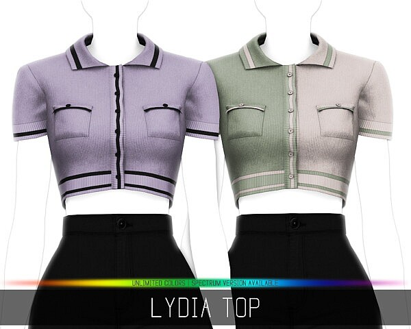 LYDIA TOP sims 4 cc