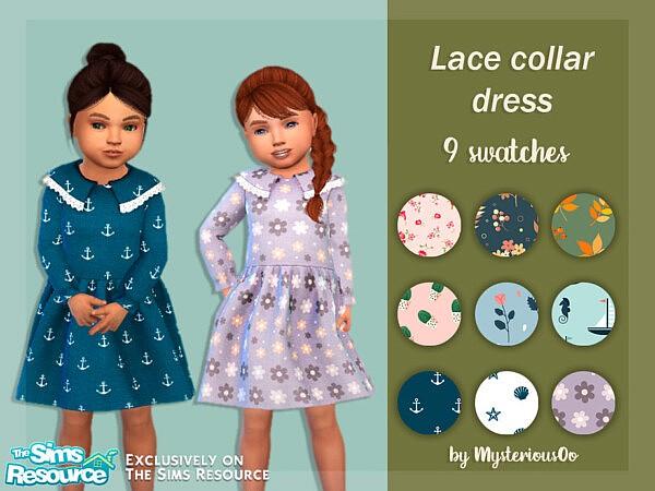 Lace collar dress sims 4 cc