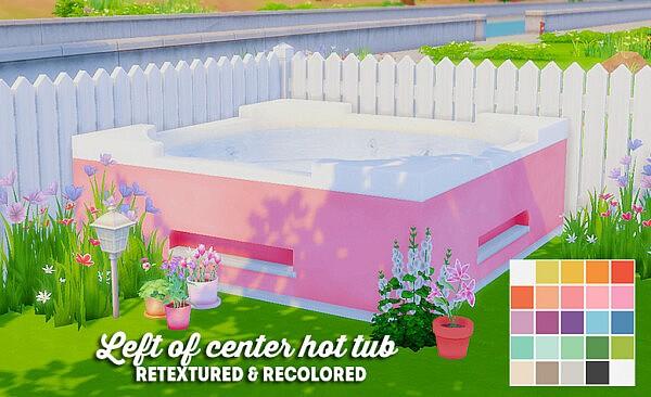Left of center hot tub sims 4 cc
