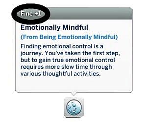 Less Intense Fine Buffs for Mindfulness sims 4 cc