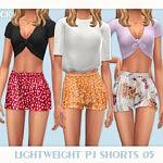Lightweight PJ Shorts 05 sims 4 cc