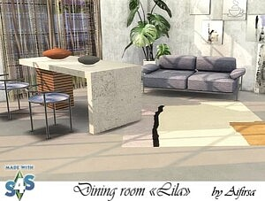 Lila dining furniture and decor sims 4 cc