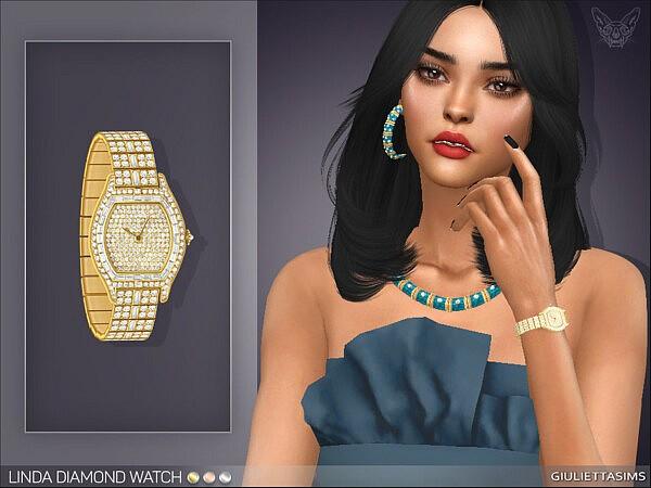 Linda Diamond Watch left wrist